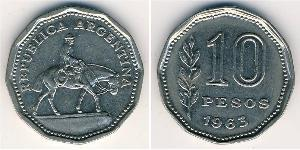 10 Peso Argentina (1861 - ) Rame/Nichel