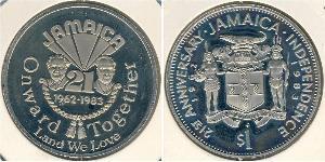 1 Dollar Jamaika (1962 - ) Kupfer/Nickel