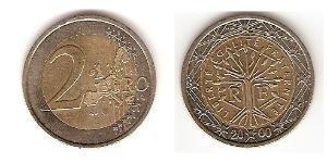 2 Euro French Fifth Republic (1958 - ) Bimetal