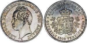 1 Thaler 安哈尔特-德绍 / 安哈尔特公国 (1806 - 1918) 銀 利奥波德四世 (安哈尔特) (1794 - 1871)