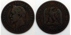 10 Centime Second French Empire (1852-1870)  Napoleon III (1808-1873)