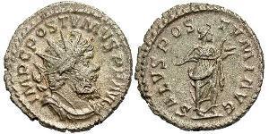 1 Antoniniano Impero delle Gallie (260-274) Argento Postumo (260-268)