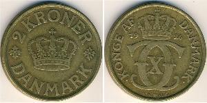 2 Krone Danemark Bronze/Aluminium
