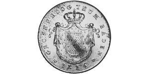 1 Thaler Gran Ducado de Baden (1806-1918) Plata