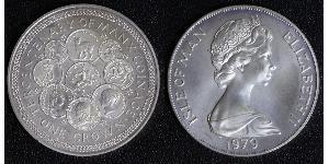 1 Crown Isla de Man  Isabel II (1926-)