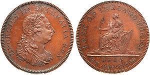 6 Shilling Irlande (1922 - ) Cuivre George III (1738-1820)
