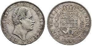 1 Талер Герцогство Мекленбург-Шверин (1352-1918) Срібло Фрідріх Франц II (великий герцог Мекленбург-Шверінський)