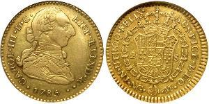 3 Escudo Guatemala Oro Carlos III de España (1716 -1788)