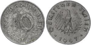 10 Pfennig Troisième Reich (1933-1945) Zinc