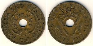 1 Пені Родезія (1965 - 1979) Бронза