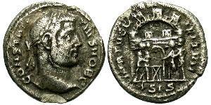 1 Аргентиус Римская империя (27BC-395) Серебро Константин I (272 - 337)