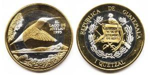 1 Quetzal Republic of Guatemala (1838 - ) Bimetal