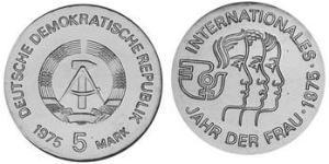 5 Mark República Democrática Alemana (1949-1990) Níquel/Cobre