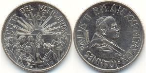 100 Lira Vatican (1926-) Cuivre/Nickel John Paul II (1920 - 2005)