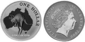 1 Долар Австралія (1939 - ) Срібло Єлизавета II (1926-)