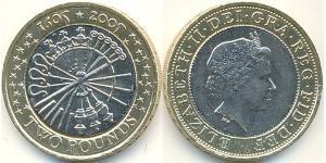 2 Pound United Kingdom (1922-)  Elizabeth II (1926-)