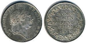 10 Penny Irlande (1922 - ) Argent George III (1738-1820)