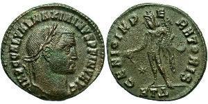 1 Follis Römische Kaiserzeit (27BC-395) Bronze Maximinus II (270 - 313)