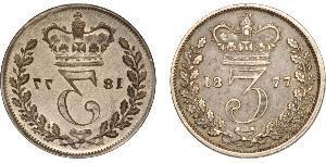 1 Threepence Сполучене королівство Великобританії та Ірландії (1801-1922) Срібло Вікторія (1819 - 1901)