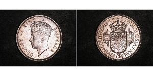 1/2 Крона(англійська) Південна Родезія (1923-1980) Срібло