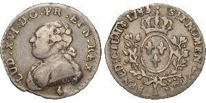 6 Sol Francia medioevale (843-1791) Argento Luigi XVI di Francia (1754 - 1793)
