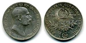 1 Krone Österreich-Ungarn (1867-1918) Silber