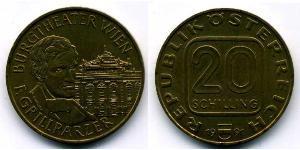 20 Shilling Republic of Austria (1955 - ) Alluminio/Rame/Nichel