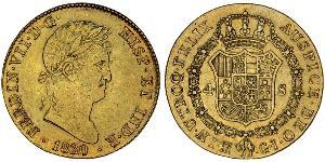 4 Escudo Kingdom of Spain (1814 - 1873) Or Ferdinand VII d