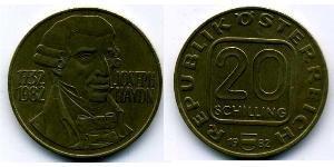 20 Shilling Republik Österreich (1955 - ) Kupfer/Aluminium/Nickel