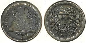 25 Centavo Guatemala Plata
