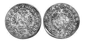 2 Kreuzer Ducado de Baviera (907 - 1623) Plata Alberto V de Baviera(1528 – 1579)