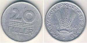 20 Filler Hungary (1989 - ) Aluminium