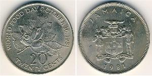 20 Cent Jamaika (1962 - ) Kupfer/Nickel