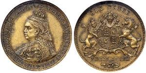 1 Sixpence United Kingdom of Great Britain and Ireland (1801-1922) Brass Victoria (1819 - 1901)