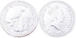 2 Долар Австралія (1939 - ) Срібло Єлизавета II (1926-)