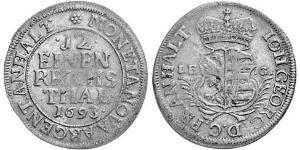 1/12 Thaler Anhalt-Dessau (1603 -1863) Argent Jean-Georges II d