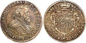 2 Thaler Habsburg Empire (1526-1804) Argent Rodolphe II du Saint-Empire (1552 - 1612)