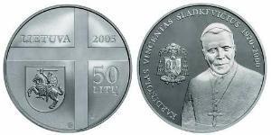 50 Litas Lituania (1991 - ) Argento