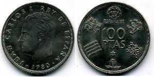 100 Peseta Reino de España (1976 - ) Kupfer/Nickel Juan Carlos I (1938 - )