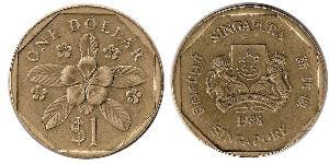 1 Dollar India / Singapore Bronze/Aluminium