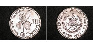 50 Centavo Guatemala (1838 - ) Argent