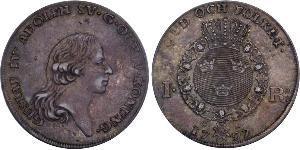 1 Riksdaler Швеція Срібло Gustav IV Adolf of Sweden (1778 - 1837)