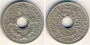 5 Cent Indochine française (1887-1954) Cuivre/Nickel