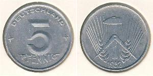 5 Pfennig German Democratic Republic (1949-1990) Aluminium
