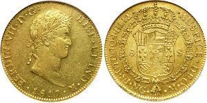 8 Escudo Guatemala Oro Fernando VII de España (1784-1833)