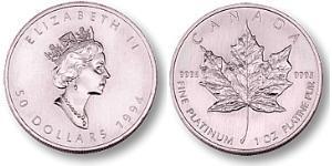 50 Dollar 加拿大 Platinum 伊丽莎白二世 (1926-)