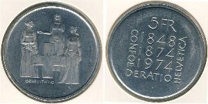 5 Franc Schweiz Kupfer/Nickel
