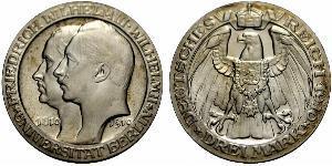 3 Mark 普魯士王國 (1701 - 1918) 銀 威廉二世 (德国)