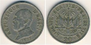 20 Sent Haiti Copper/Nickel