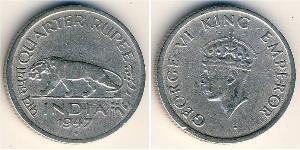 1/4 Рупія Британська Індія (1858-1947) Нікель